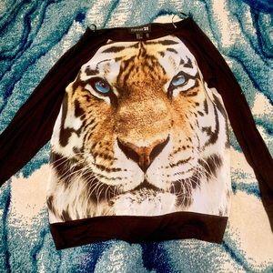 Tiger print shirt 🐅